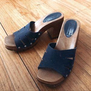 Clog Mules Sandals, Genuine leather